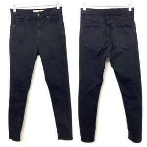 Topshop Jamie High Waist Black Skinny Jeans 28x27